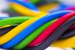 Leinwanddruck Bild - electric cable