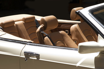Detail of a classic car