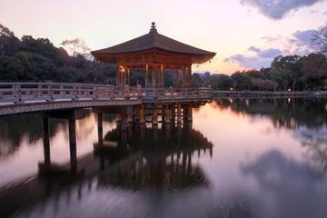 Pavilion in Nara Park, Japan