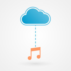 Cloud and musical note