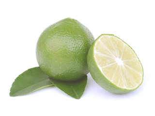 Citrus lime fruit isolated on white background