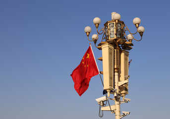 Street lamp on Tiananmen Square in Beijing