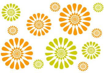 Muster orange grün