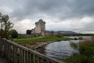 stormy Ross castle in Killarney