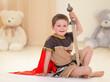little boy with a sword
