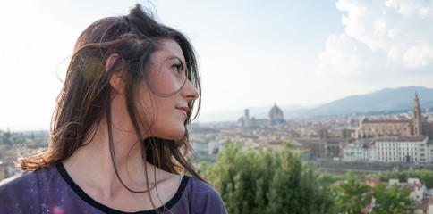 tourist in firenze