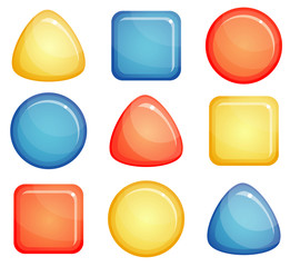 glass buttons shapes