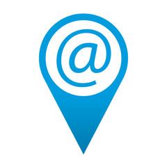 Icono localizacion simbolo arroba