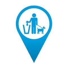 Icono localizacion simbolo recogida excremento canino