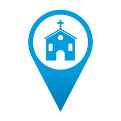 Icono localizacion simbolo iglesia