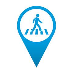 Icono localizacion simbolo paso de peatones