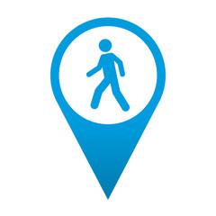 Icono localizacion simbolo peaton