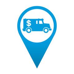 Icono localizacion simbolo vehiculo blindado