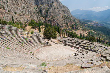 Theatre at Sanctuary of Apollo in Delphi