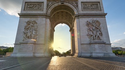 Arch of Triumph in Paris, France.