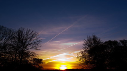 Sunrise .  time lapse clip without birds, RAW output