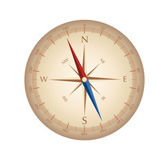 Vintage compass. Vector