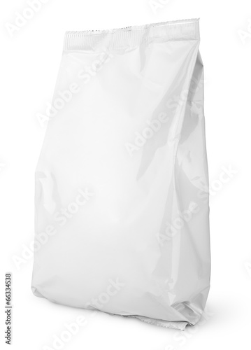 Blank Snack bag package isolated on white with clipping path - 66334538