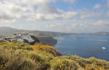 küste von santorin, griechenland
