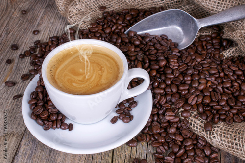 Leinwandbild Motiv Kaffeegenuss