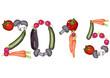 2015 gebildet aus verschiedenen Gemüsesorten