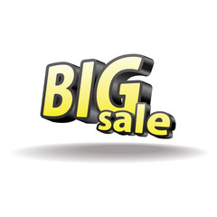 Volumetric letters big sale. Isolated. Black and yellow.
