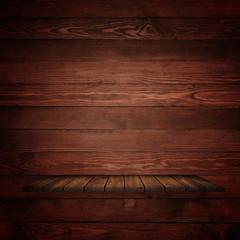 Wood vintage shelf on the wall