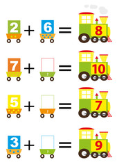math trains for kids - vectors