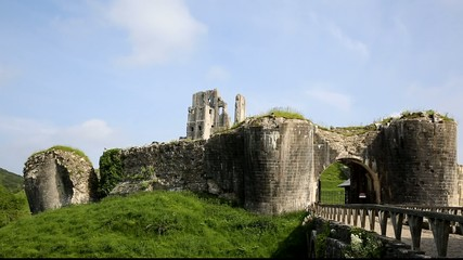 Corfe Castle Isle of Purbeck Dorset England uk Norman