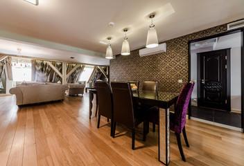 Luxury interior of modern dining room