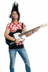 Mädchen mit E-Gitarre