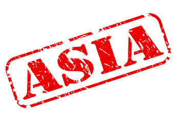 ASIA red stamp on white