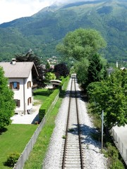 Belluno Village Railroad Italy
