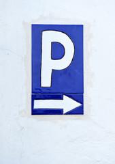 Señal de parking, azulejo