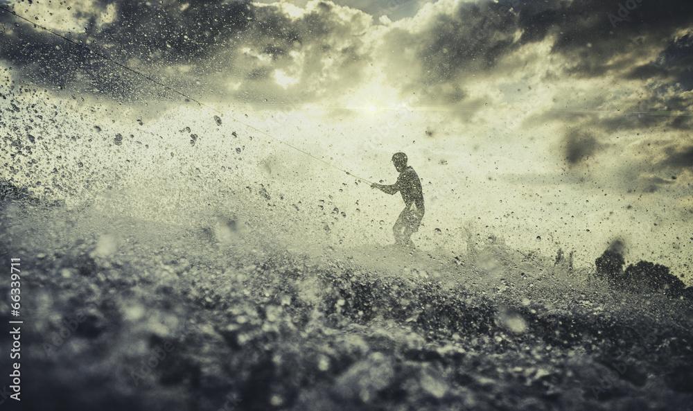 rozchlapać woda sport wodny - powiększenie