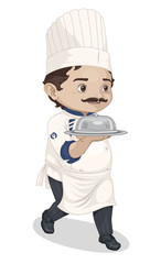Chef walking