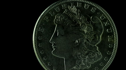 old dollar coin rotate