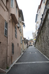 Narrow streets and high strairs  Cannes France