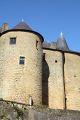 Castle of Sean from the 16th century in Sedan. France
