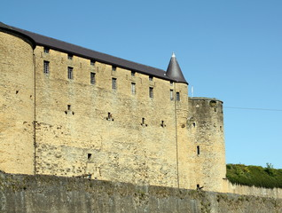 Castle of Sedan from the 16th century in Sedan.France