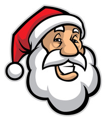 smilling santa head