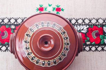Traditional Romanian ceramic pot