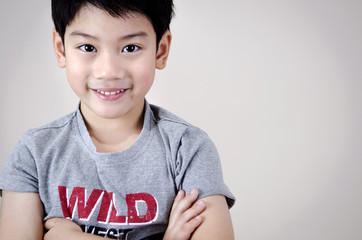 Portrait Of asian cute boy