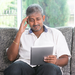 Headache while reading on tablet computer