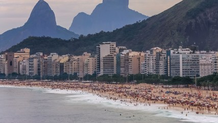 Beach Time Lapse Rio Copacabana Zoom
