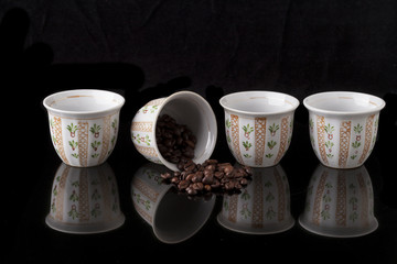 Four Arabic Cups