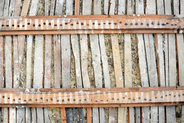 Holz-Decke als Textur und Hintergrund