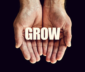 grow hands