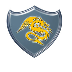 Escudo dragón amarillo