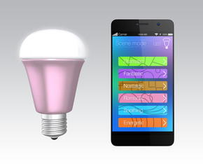 Smartphone app for LED lighting control